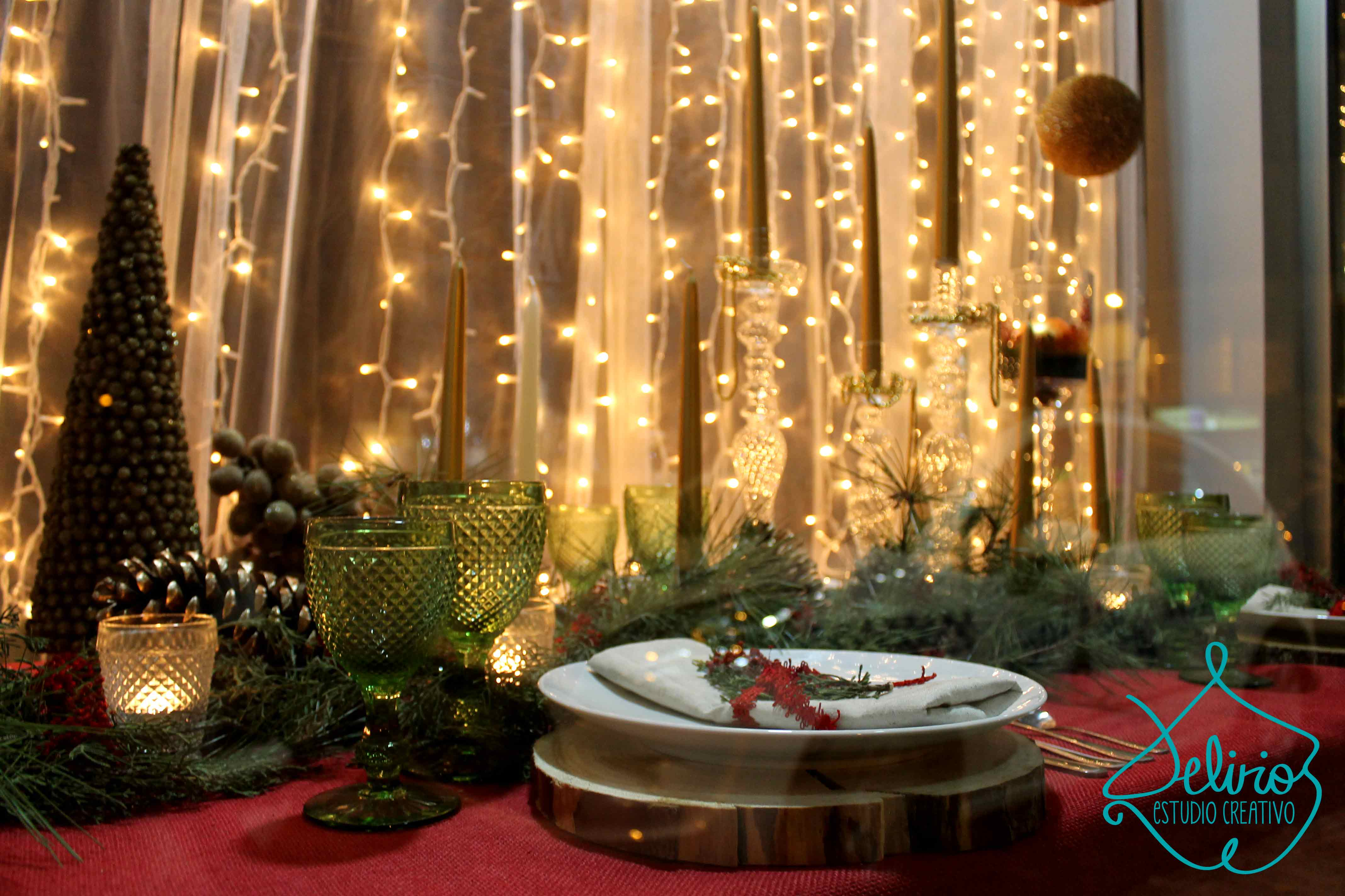 Decoraci n mesa navidad deliriosdebodas for Detalles de decoracion